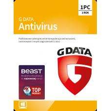 Oprogramowanie antywirusowe G Data Antivirus - 1 urządzenie / 1 rok