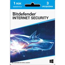 Oprogramowanie antywirusowe Bitdefender Internet Security - 3 urządzenia / 1 rok