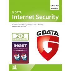 Oprogramowanie antywirusowe G Data Internet Security - 2+2 urządzenia / 20 m-cy