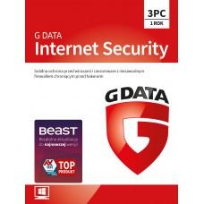 Oprogramowanie antywirusowe G Data Internet Security - 3 urządzenia / 1 rok
