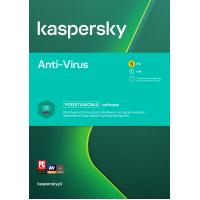 Oprogramowanie antywirusowe Kaspersky Anti-Virus - 5 urządzeń / 1 rok