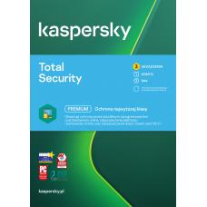 Oprogramowanie antywirusowe Kaspersky Total Security - 3 urządzenia / 2 lata