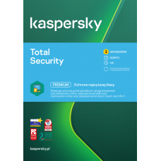 Oprogramowanie antywirusowe Kaspersky Total Security - 3 urządzenia / 1 rok