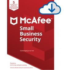 Oprogramowanie antywirusowe McAfee® Small Business Security 5 urządzeń / 1 rok