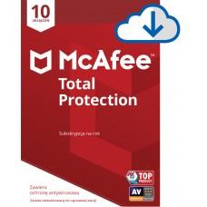 Oprogramowanie antywirusowe McAfee® Total Protection 10 urządzeń / 1 rok