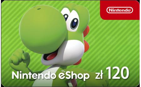 Kod aktywacyjny Nintendo eShop 120 PLN