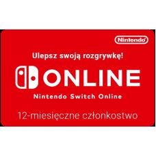 Nintendo Switch Online - 12 miesięczne członkostwo