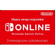 Nintendo Switch Online - 3 miesięczne członkostwo