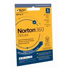 Oprogramowanie antywirusowe Norton 360 Deluxe - 5 urządzeń / 12 miesięcy