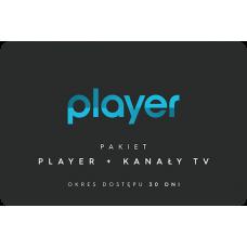 PLAYER + KANAŁY TV - 30 dni