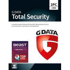 Oprogramowanie antywirusowe G Data Total Security - 3 urządzenia / 1 rok